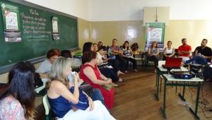 Roda de Conversa com professores da rede pública de ensino, no Colégio Otoniel Mota, em Ribeirão Preto